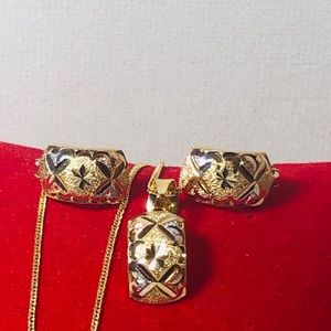 18K REAL GOLD CLIP SET